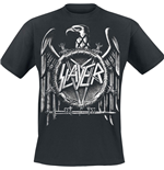 Slayer Men's Puff Print Tee: Hi-Contrast Eagle
