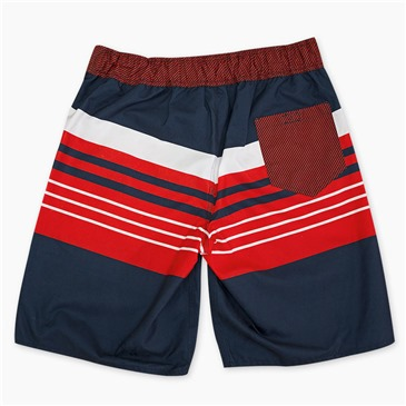 BUDWEISER Men's Striped Board Shorts
