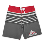 COORS Light Men's Red And Grey Board Shorts