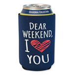 Dear Weekend Navy Blue Koozie