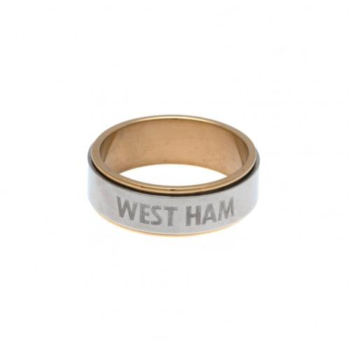 West Ham United F.C. Bi Colour Spinner Ring X-Small