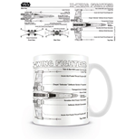 Star Wars Mug X-Wing Fighter Sketch