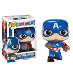 Captain America Civil War POP! Vinyl Bobble-Head Captain America (Action Pose) 9 cm