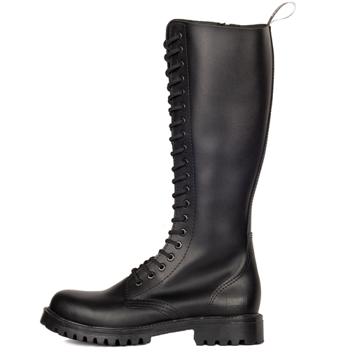 Mode Wichtig 20-Eye Classic Boots Zip Leather