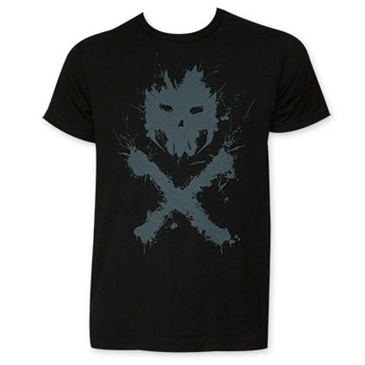 Captain America Men's Black Crossbones Logo Tee Shirt