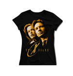 The X-Files Ladies T-Shirt Gold Faces