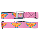 WONDER WOMAN Pink Seatbelt Buckle Belt
