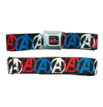 Marvel AVENGERS Logos Seatbelt Buckle Belt