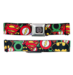 JUSTICE LEAGUE Logos Seatbelt Buckle Belt