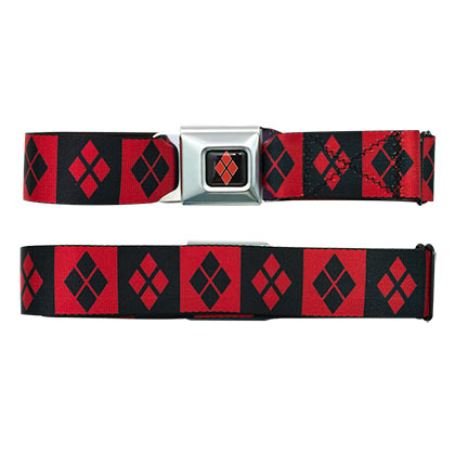 HARLEY QUINN Logo Seatbelt Buckle Belt