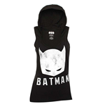 BATMAN Black And White Women's Hooded Tank Top