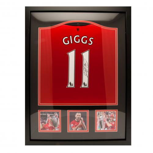 Manchester United F.C. Giggs Signed Shirt (Framed)