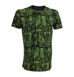 MARVEL COMICS Incredible Hulk Adult Male Classic Green Comic Strip T-Shirt, Medium, Green/Black