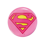 SUPERMAN Supergirl Pink Logo Button