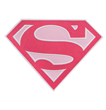 SUPERMAN Supergirl Pink 10 Inch Patch