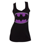 BATMAN Purple Logo Womens Tank