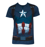 CAPTAIN AMERICA Civil War Suit Costume Shirt