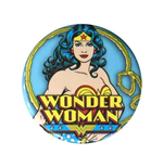 WONDER WOMAN Blue Button