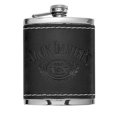JACK DANIELS Leather 6 OZ Flask