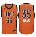 Men's Oklahoma City Thunder Kevin Durant adidas Orange New Swingman Alternate Jersey