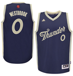 Men's Oklahoma City Thunder Russell Westbrook adidas Navy 2015 Christmas Day Swingman Jersey