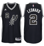 Men's San Antonio Spurs Kawhi Leonard adidas Black New Swingman 2016 Black Spur Jersey