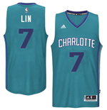 Men's Charlotte Hornets Jeremy Lin adidas Teal New Swingman Road Jersey