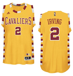 Men's Cleveland Cavaliers Kyrie Irving adidas Gold Hardwood Classics Swingman Jersey