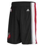 adidas Portland Trail Blazers New Swingman Black Shorts