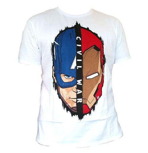 Captain America Civil War T Shirt Stark Cap Head For Only