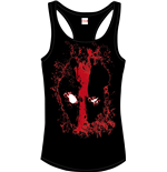 Deadpool Girlie Tank Top Bloody Eyes
