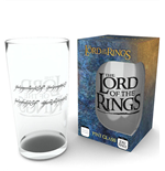 Lord of the Rings Pint Glass Inscription