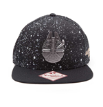 STAR WARS The Force Awakens Unisex Millennium Falcon Snapback Baseball Cap, One Size, Black