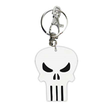 PUNISHER Logo Bendable Keychain