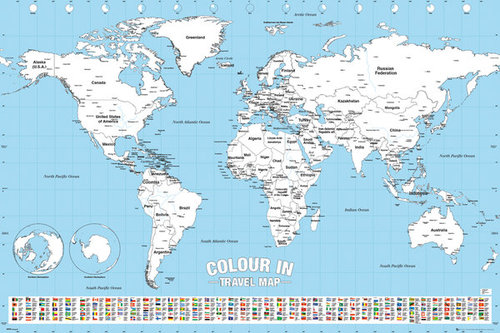 World Map Colour In Maxi Poster