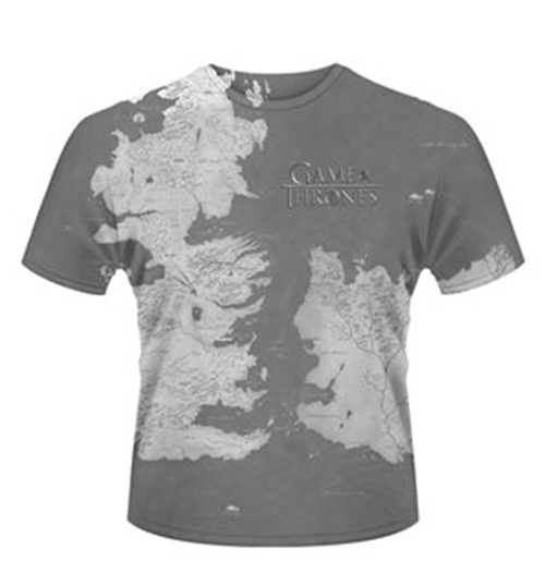 Game of thrones t shirt westeros for only at for Game t shirts uk
