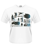Star Wars The Force Awakens T-shirt Blue Heroes Character