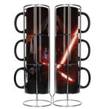 Star Wars Episode VII Stackable Mugs Set Kylo Lightsaber