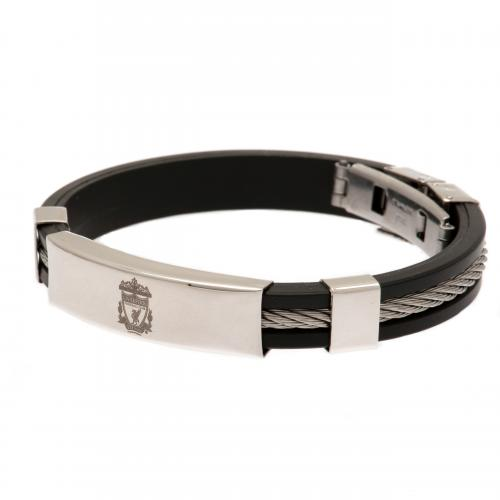 Liverpool F.C. Silver Inlay Silicone Bracelet