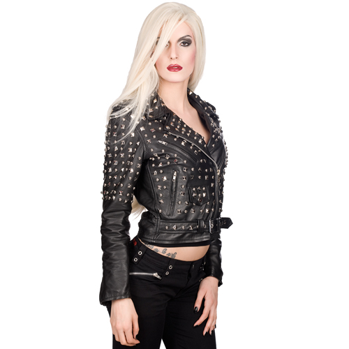 Mode Wichtig Ladys Rockstar Extreme Jacket Nappa Leather