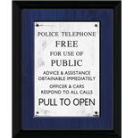 Doctor Who - Tardis Sign Framed Picture (30x40cm)