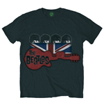 Beatles T-shirt - Guitar & Flag - Black