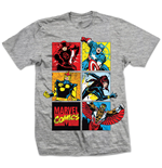 Marvel Superheroes T-shirt - Marvel Montage Gray
