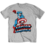 Marvel Comics T-shirt - Simple Captain America Grey