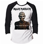 Iron Maiden - RAGLAN/BASEBALL Book Of Souls Black White T-shirt