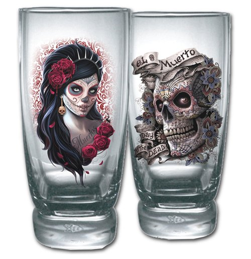 Day Of The Dead Glassware 208047 For Only 163 16 33 At