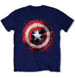 Marvel Comics - Captain America Splat Shield T-shirt (unisex)