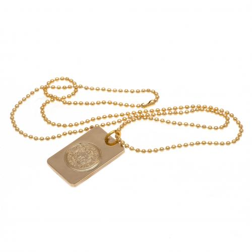 Leicester City F.C. Gold Plated Dog Tag & Chain