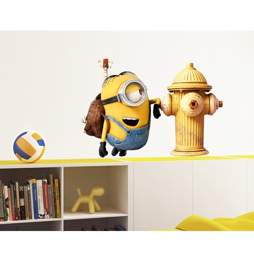 official minions wall stickers fire hydrant buy online on