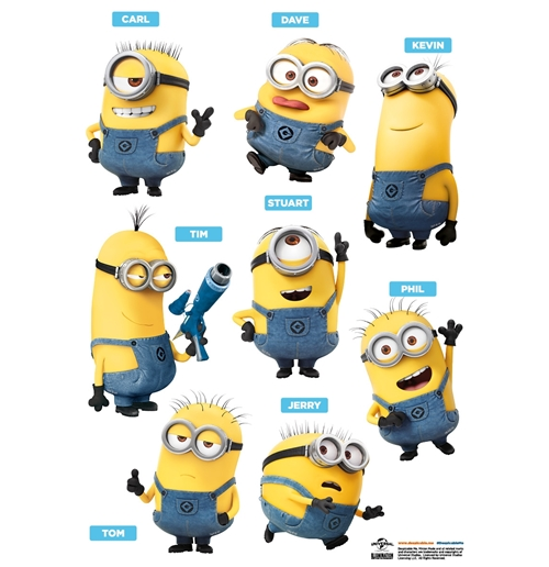official minions wall stickers  friends buy   offer
